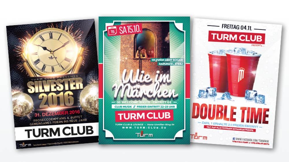 Flyer für Nachtclub