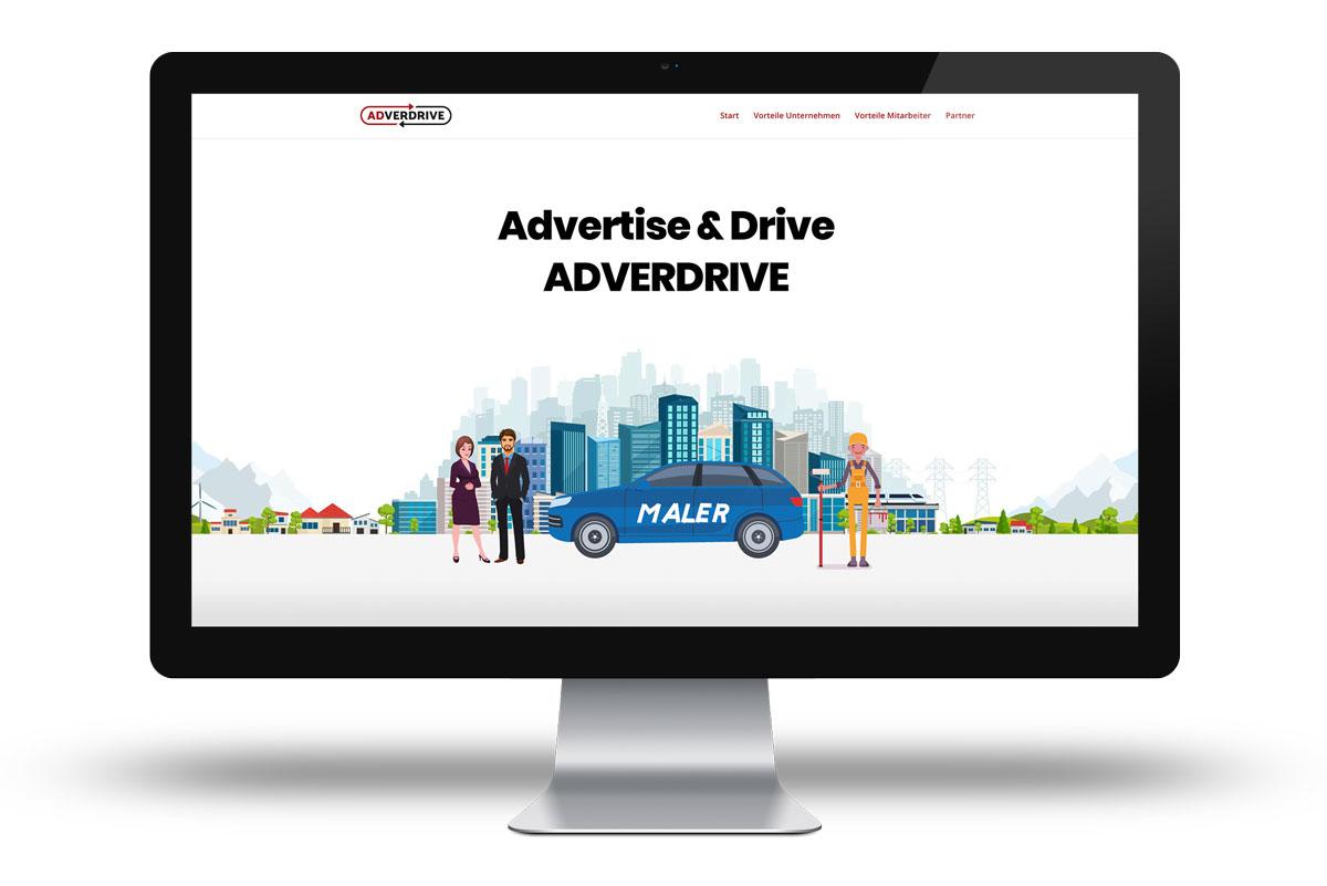 Landingpage (Website) für Adverdrive