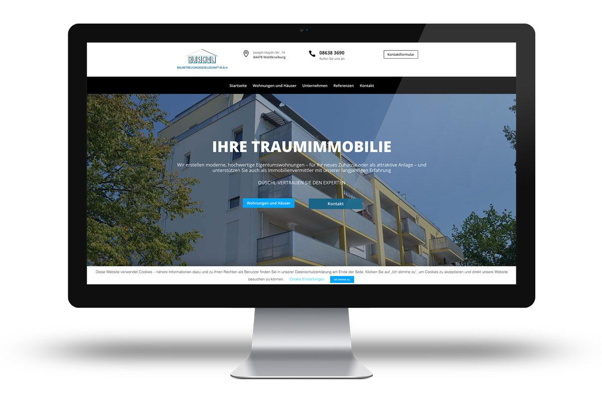 Website für die Firma Duschl