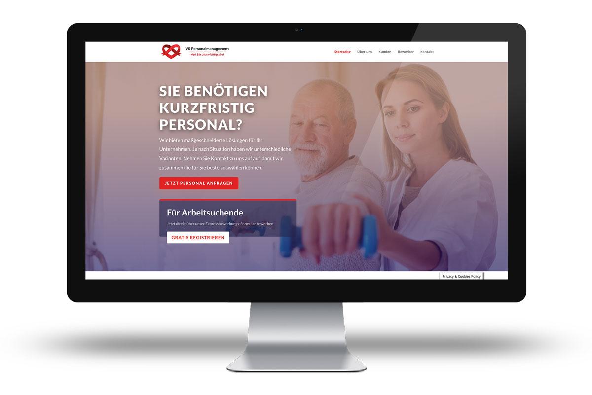 Website für Personal Agentur