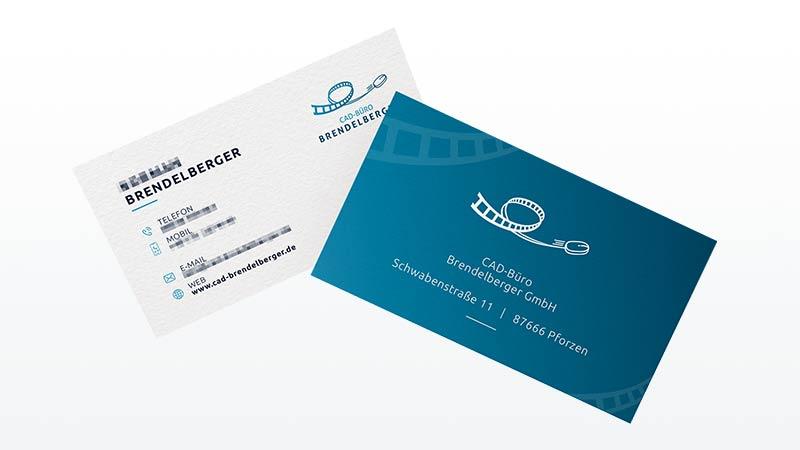 Visitenkarten Design CAD Buero